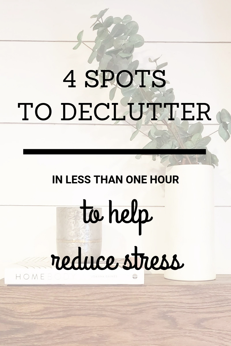 4 spots to declutter now in less than one hour