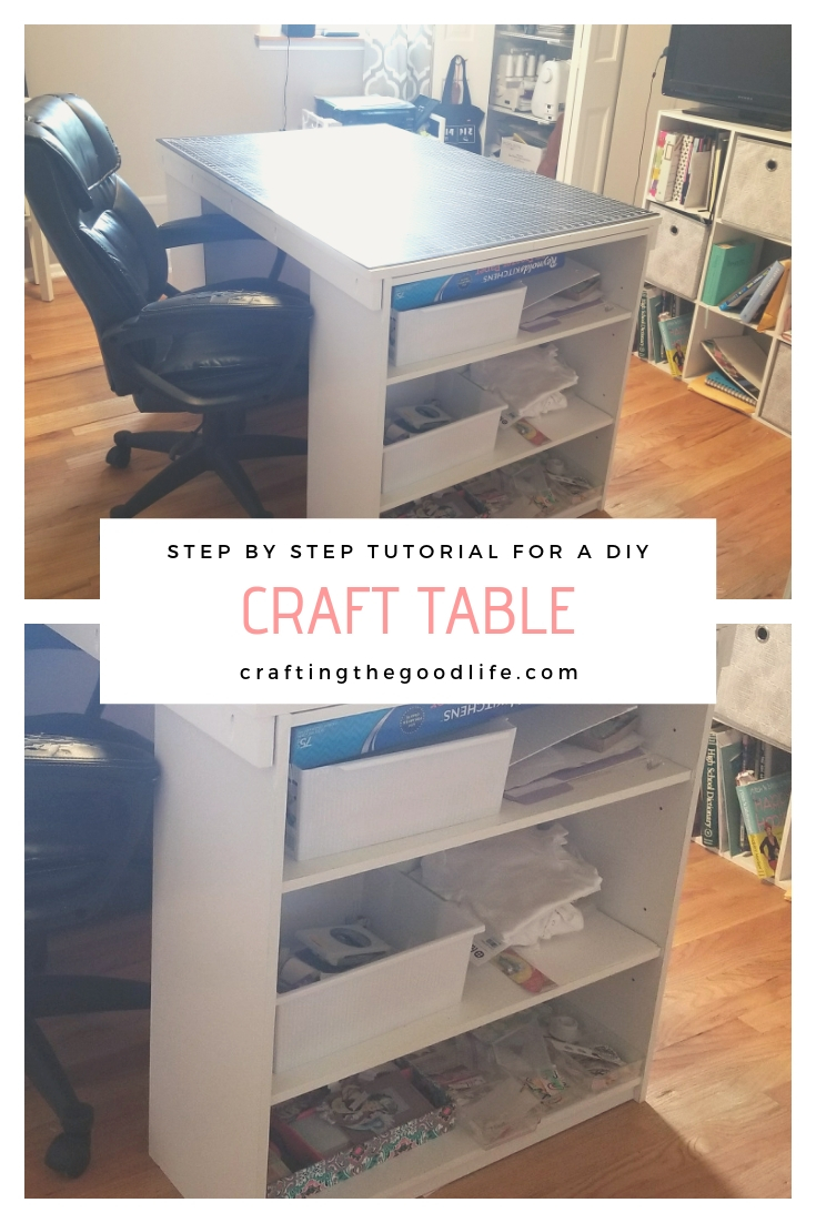 Easy DIY Craft Table Step by Step Tutorial