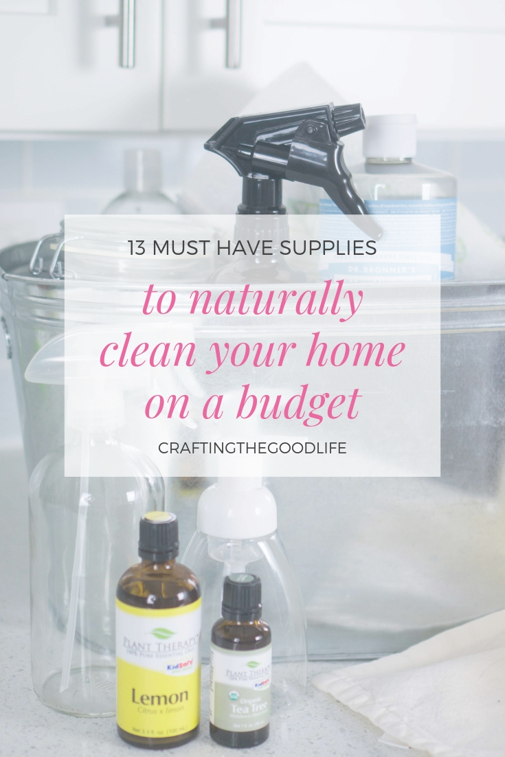Must Have Supplies to Naturally Clean your Home on a Budget | Minimalist Natural Cleaning Guide