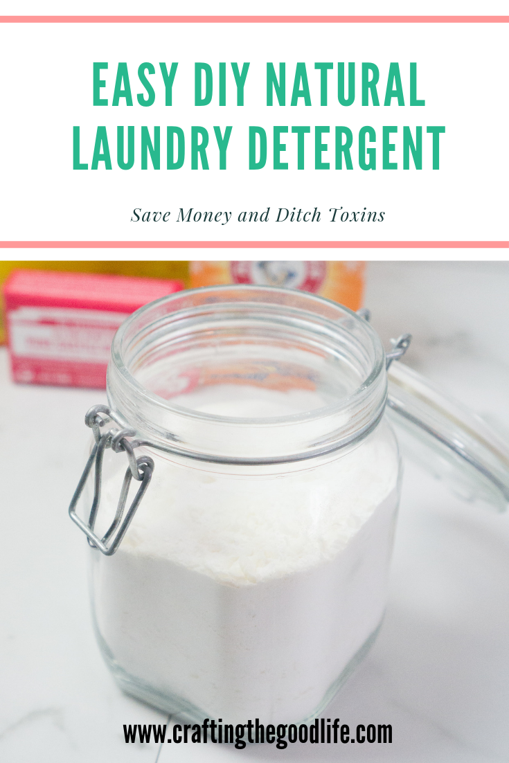 Easy Homemade All Natural Laundry Detergent | DIY on a Budget