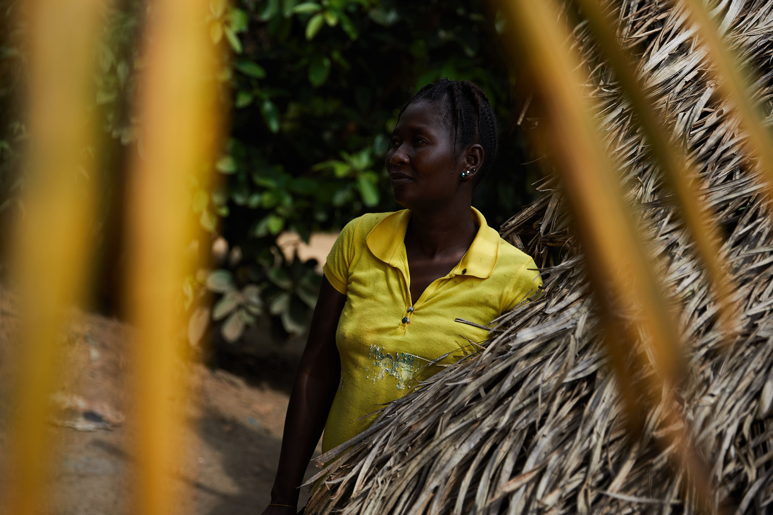 Tannah contracted Ebola and survived but lost 6 members of her family including her son. She makes a living as a farmer in Mawah, Liberia, which lost 39 of its residents to Ebola.