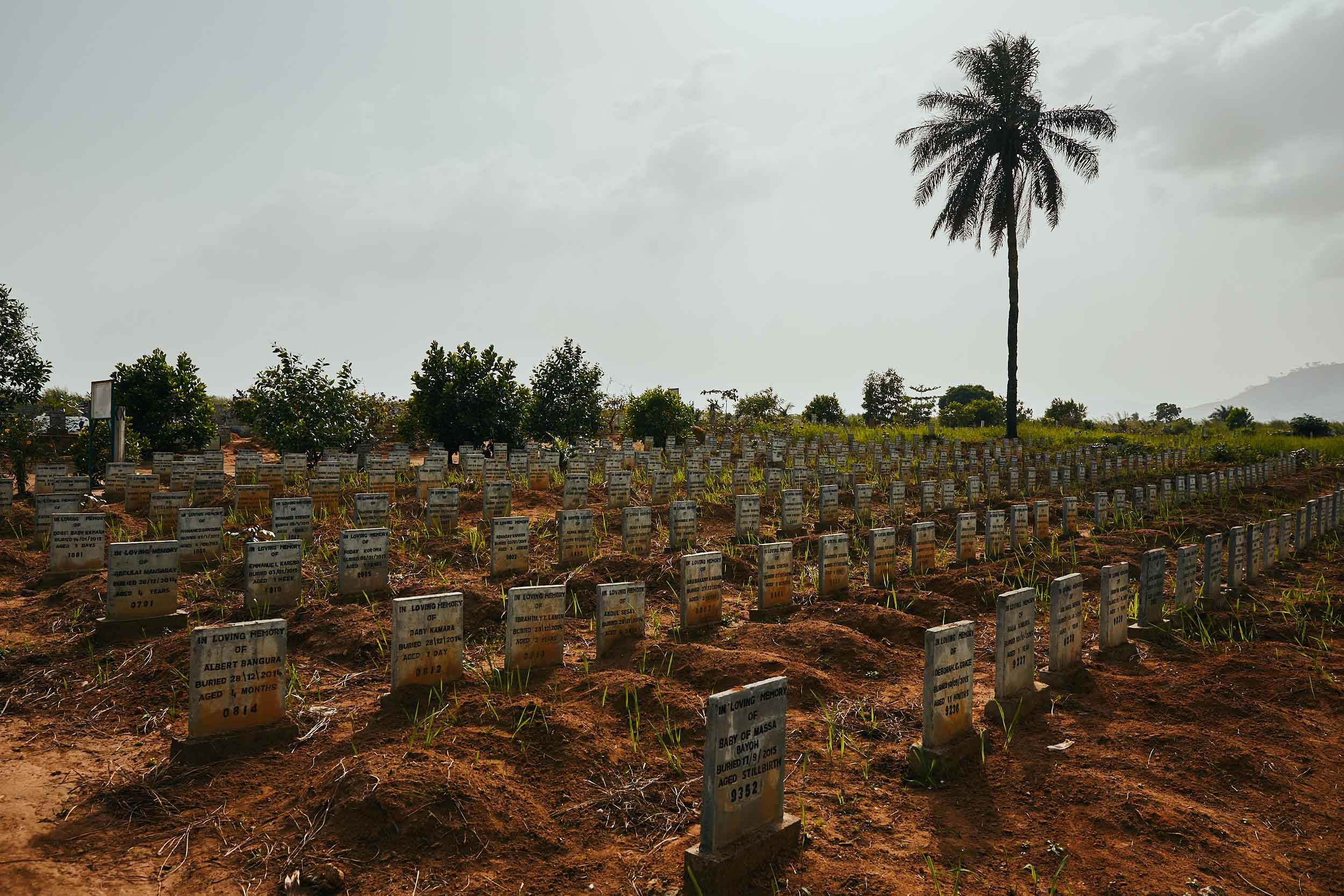 Ebola graves, Waterloo, Sierra Leone.