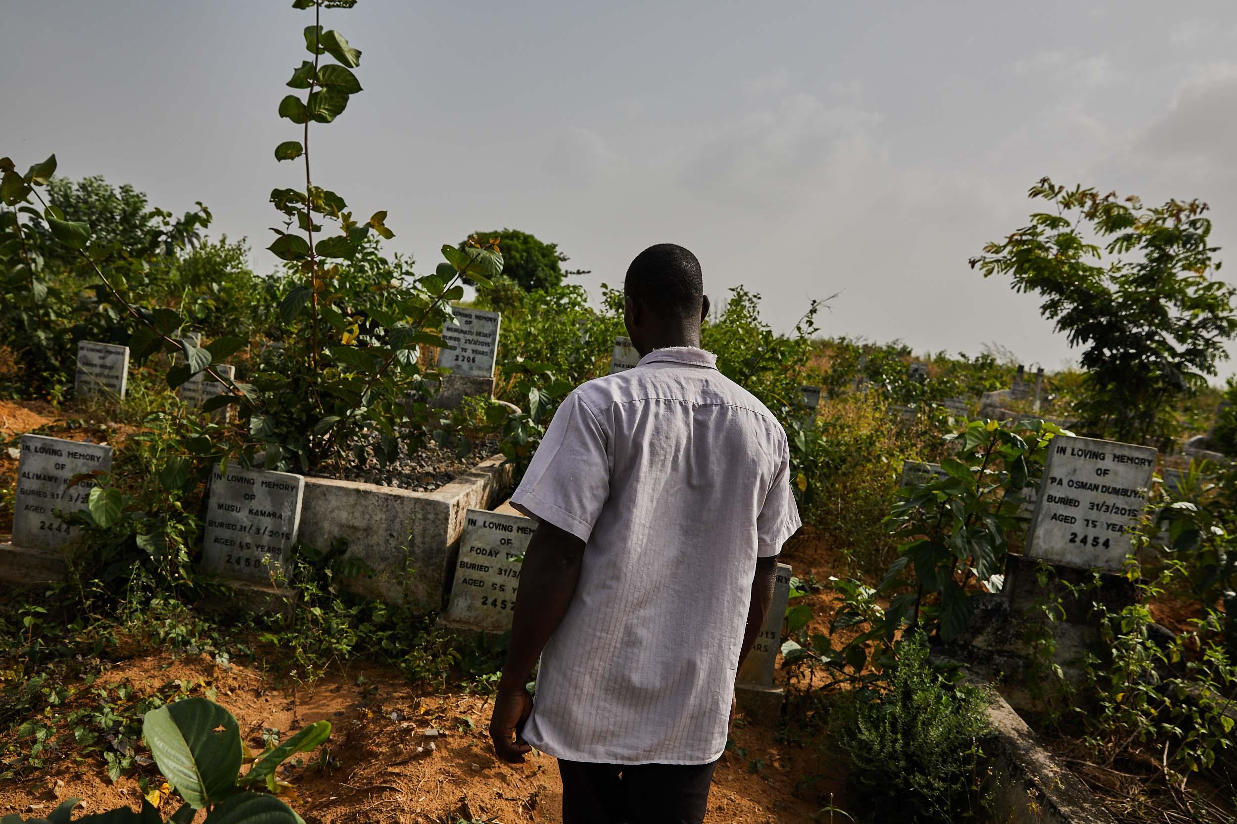 Overgrown graves, Sierra Leone.