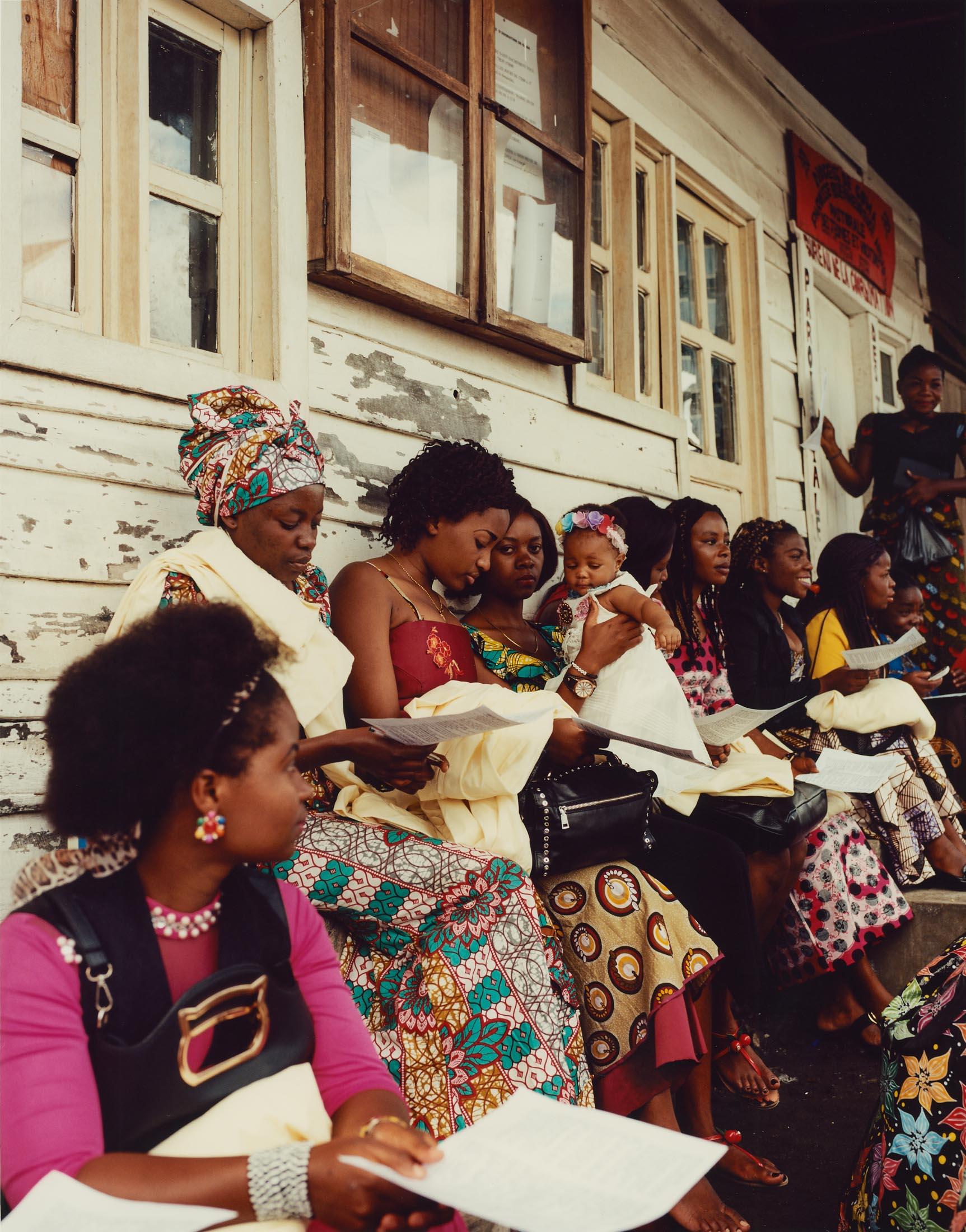 Choir girls during rehearsal at the church of the Anuarite de Goma, North Kivu Province, Eastern DRC.