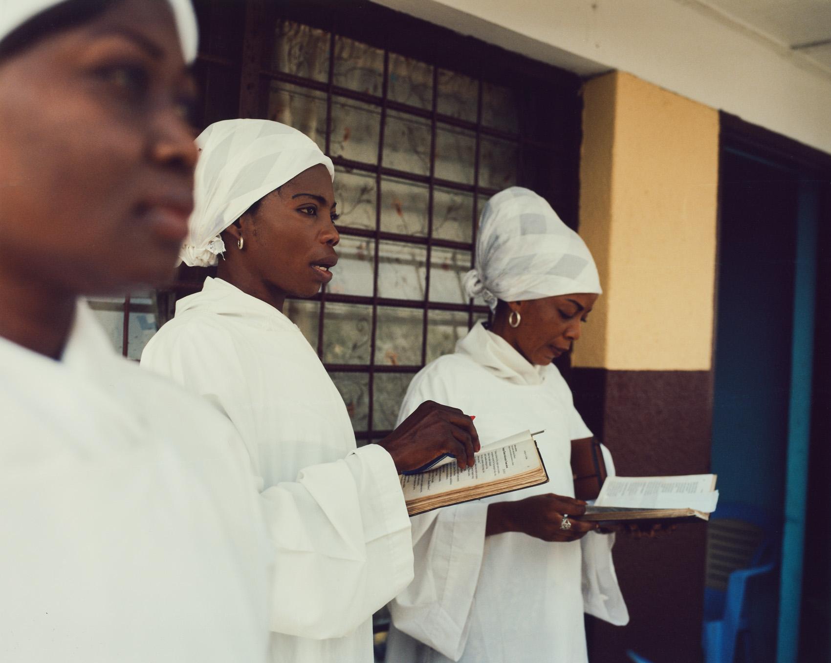 Choir girls practice at St. Augustin, Lemba, Kinshasa.