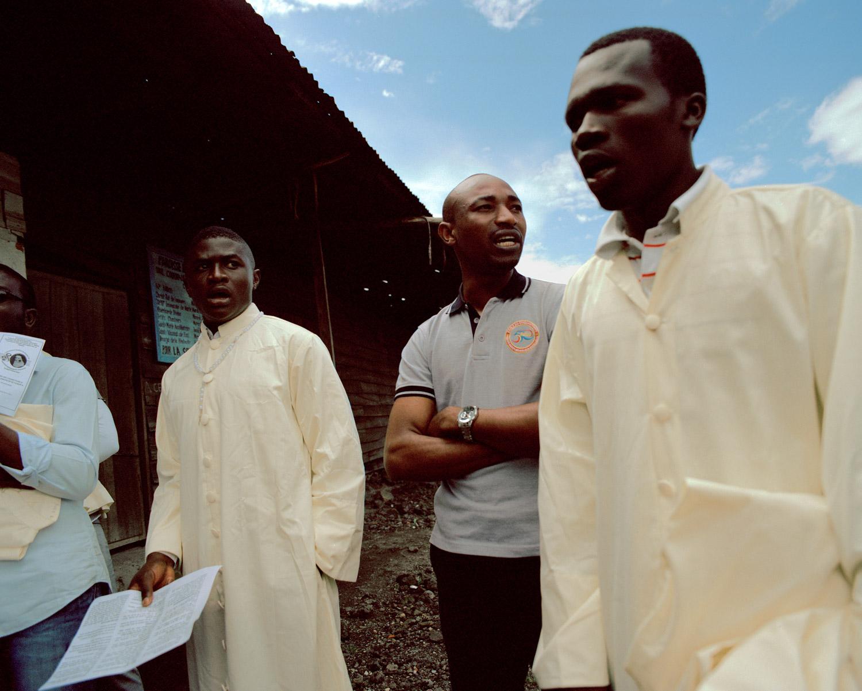 The choir of the church of the Anuarite de Goma, North Kivu Province, Eastern DRC.