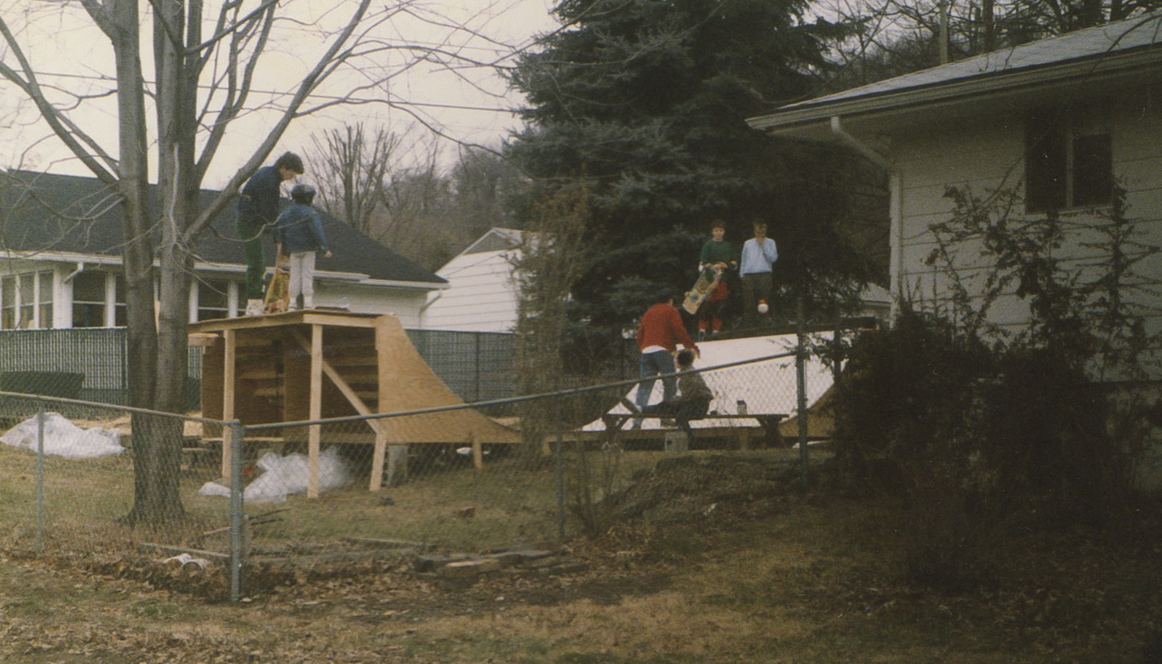 The 4ft tall and 12ft wide mini ramp in Craig Dransfield's backyard in Athens.  Photo Courtesy of Craig Dransfield