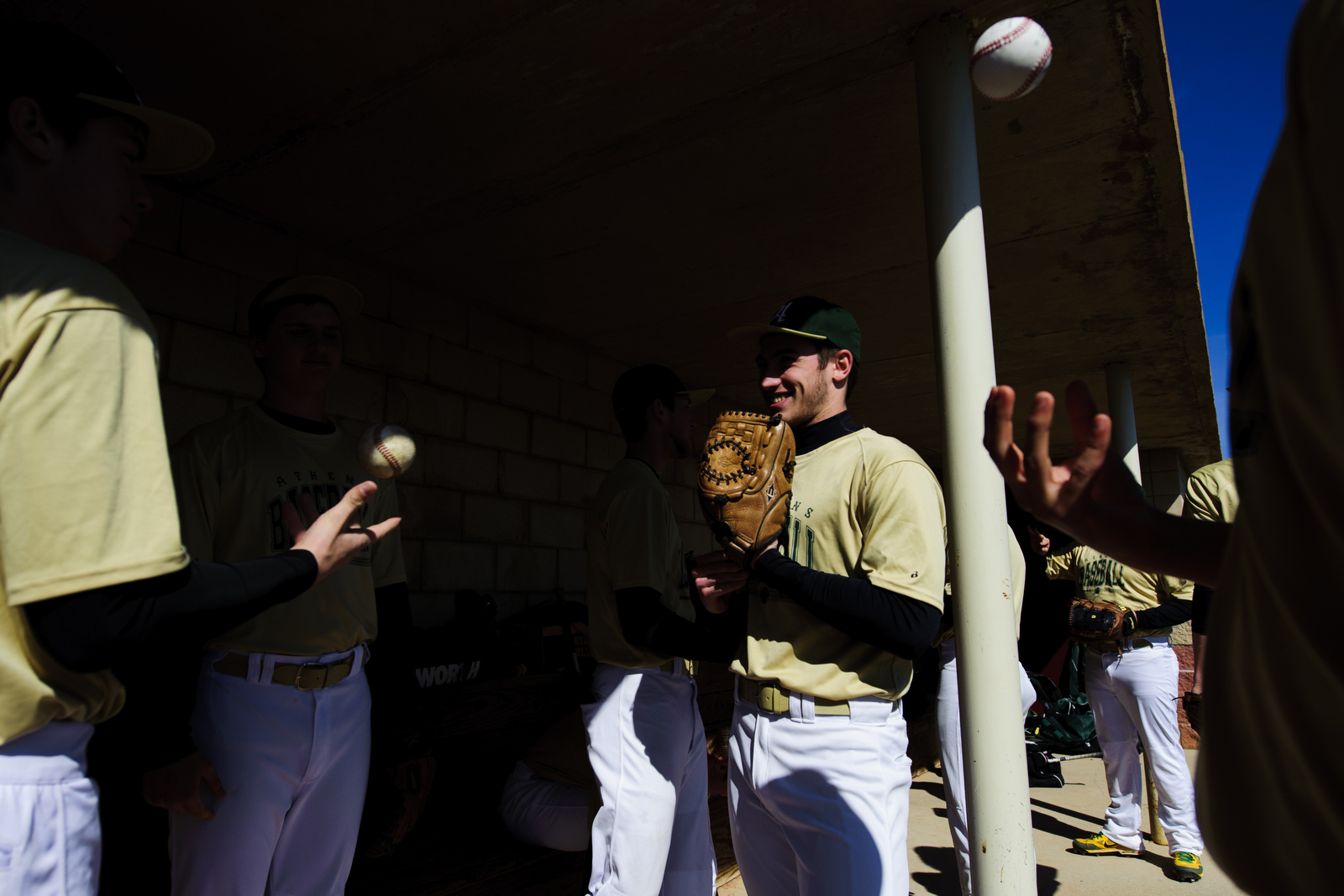 The team prepares to face Vinton County on Wednesday, April 16, 2014.