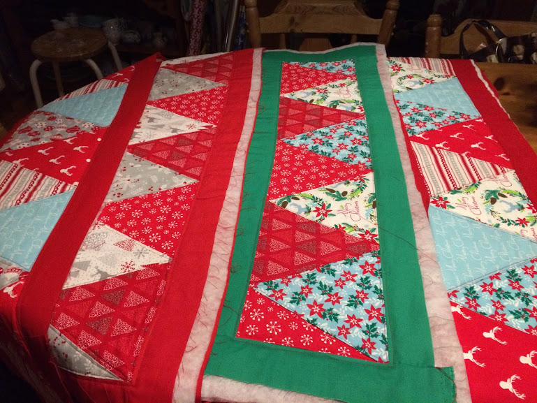 Table Runners made at sewing club & used for the 2017 Monkey Park Christmas Meal