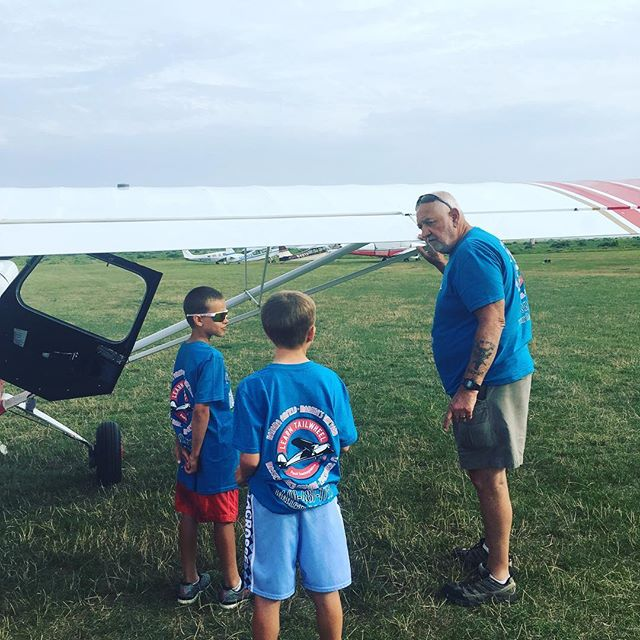 Next gen pilots, 9 yr old twins Nathan & Thomas get ready for their first flight ever. Starting in a Citabria, so starting in the best!