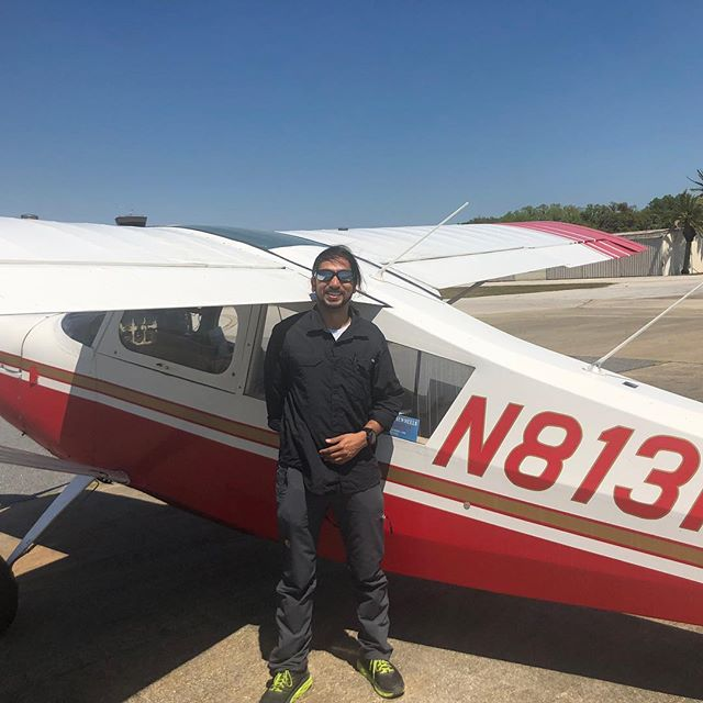 Santosh Vasan here from India by way of Indonesia and Texas doing his Tailwheel endorsement. He's a 4000hr CFI.