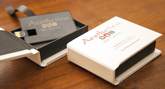 USB sample included in 'Corporate Stationery Package'