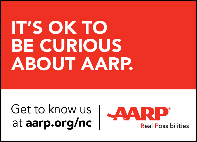 - Did you know AARP supports the LGBT community? Here's a print ad we did for the North Carolina Pride Festival program booklet.