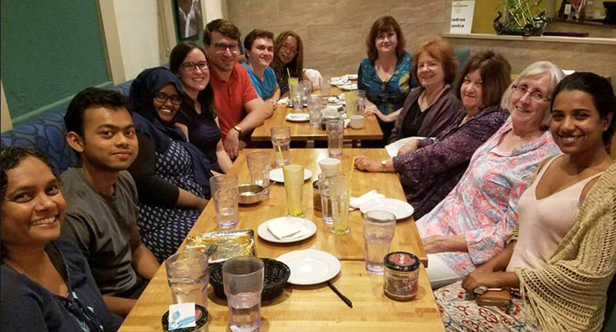 The Aspire team, brainstorming and breaking bread together!