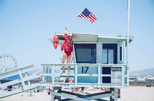 A little #tbt. Happy 4th of July! Regardless of where you are and what you're doing today, give some respect to the first responders keeping you and your loved ones safe this holiday. Have fun and be safe! #july4th #oceanlifeguard #santamonica