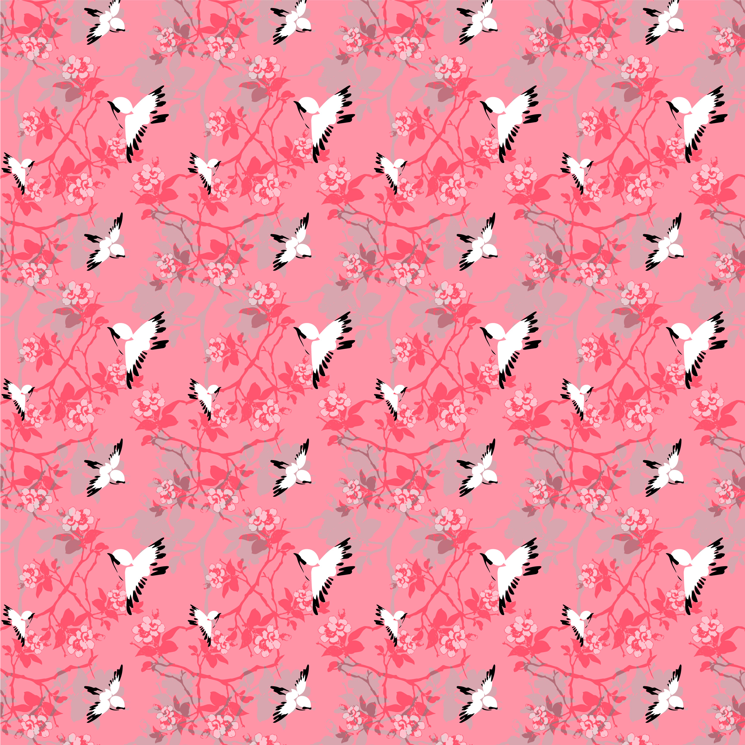 """Beginning with just floral bunch, this pattern was inspired by the same translation of the first latchhook bird jacket, while not incorporating the """"inseparably tied branches"""" into the pattern."""