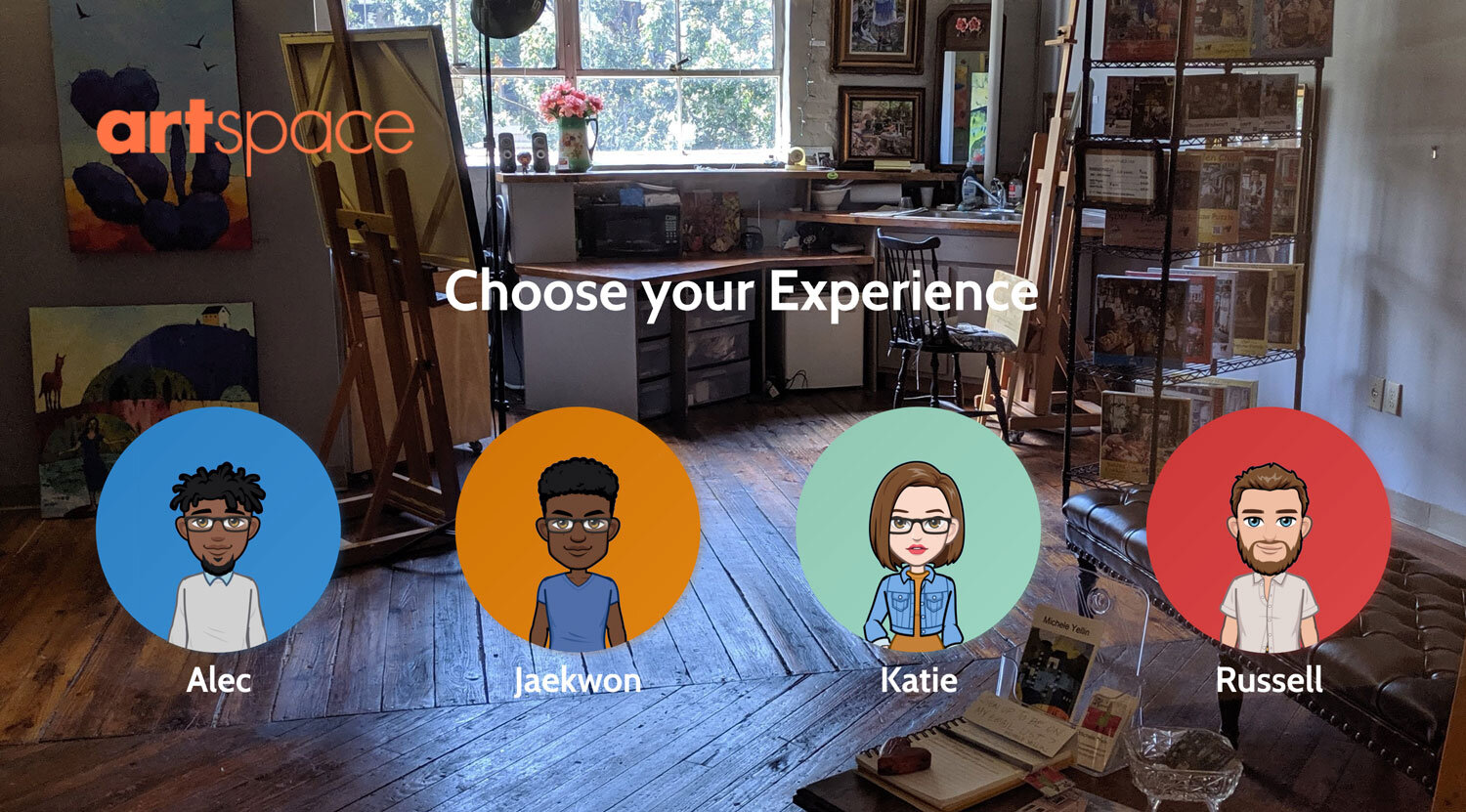 """Design the Experience as an artifact: Portal landing screenshot for """"Choose your Experience"""""""