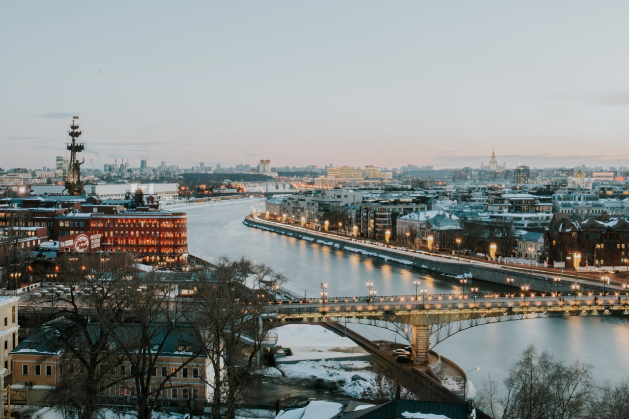 Dusk in Moscow -