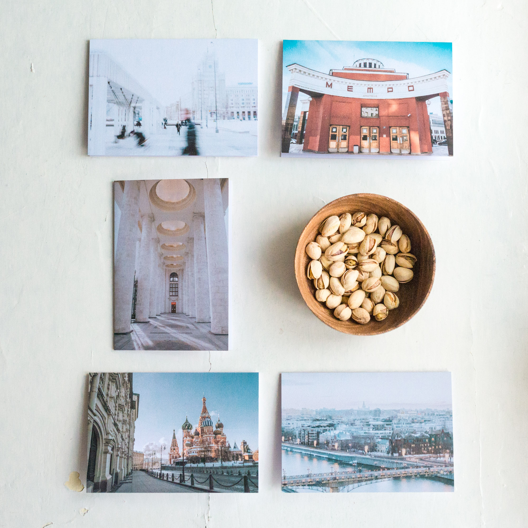Moscow Card Set - Five 10 x 15 folded blank cards with envelopes500 Rub. each2 or more sets - 450 Rub. each