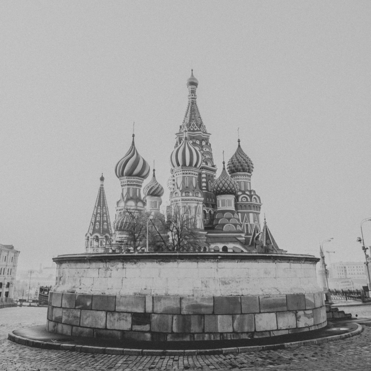 St. Basil's in Black & White -