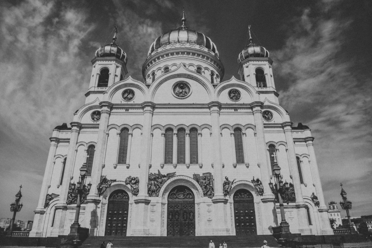 Cathedral of Christ the Savior B&W -