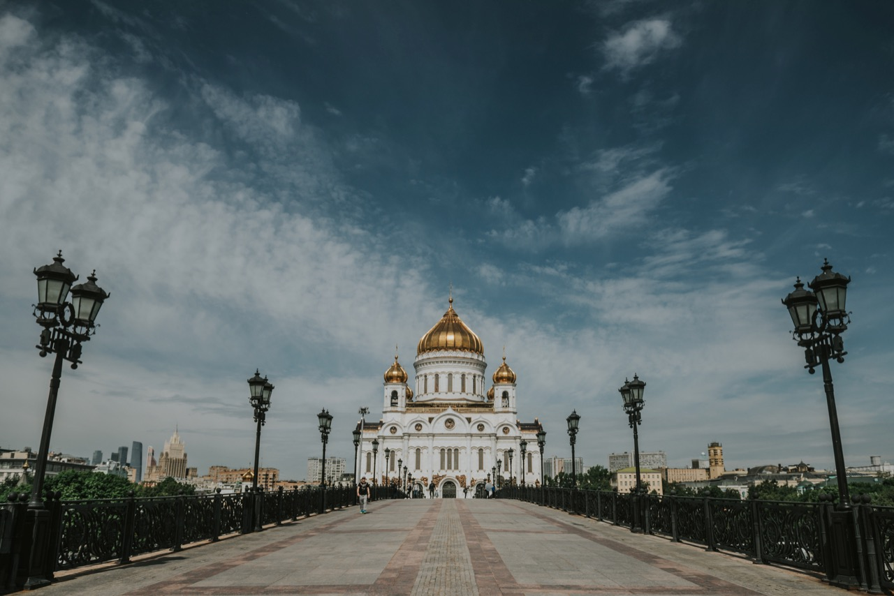 Path to Cathedral of Christ the Savior -