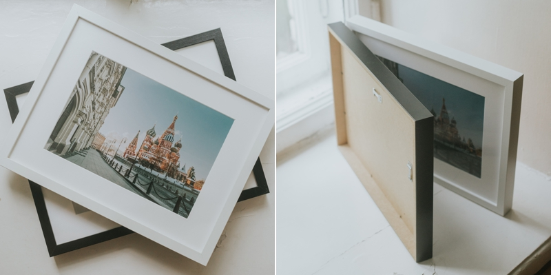 Framed - Framed products available in modern style - black or white