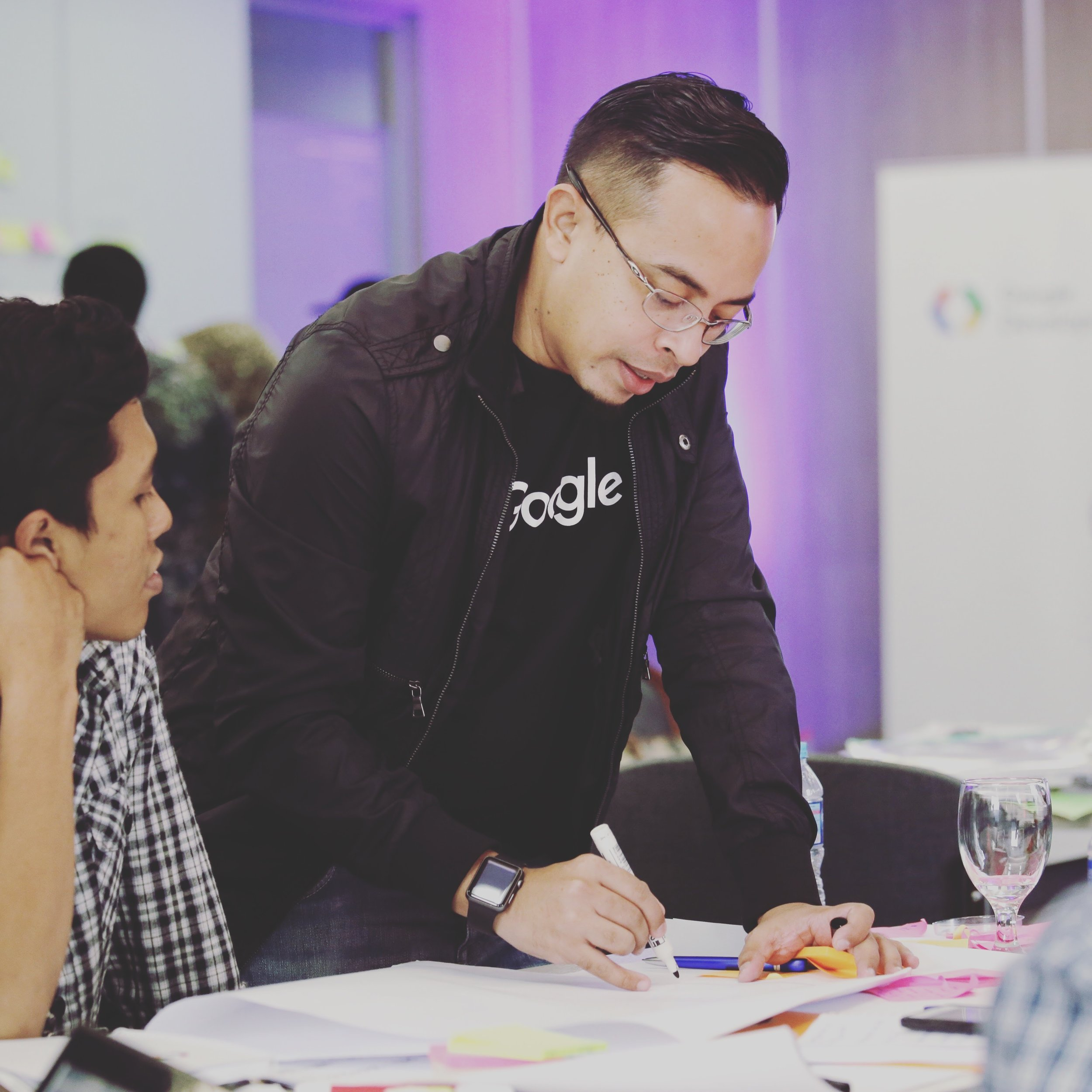 Borrys Hasian was mentoring startups under Google Launchpad Accelerator in October 2016.