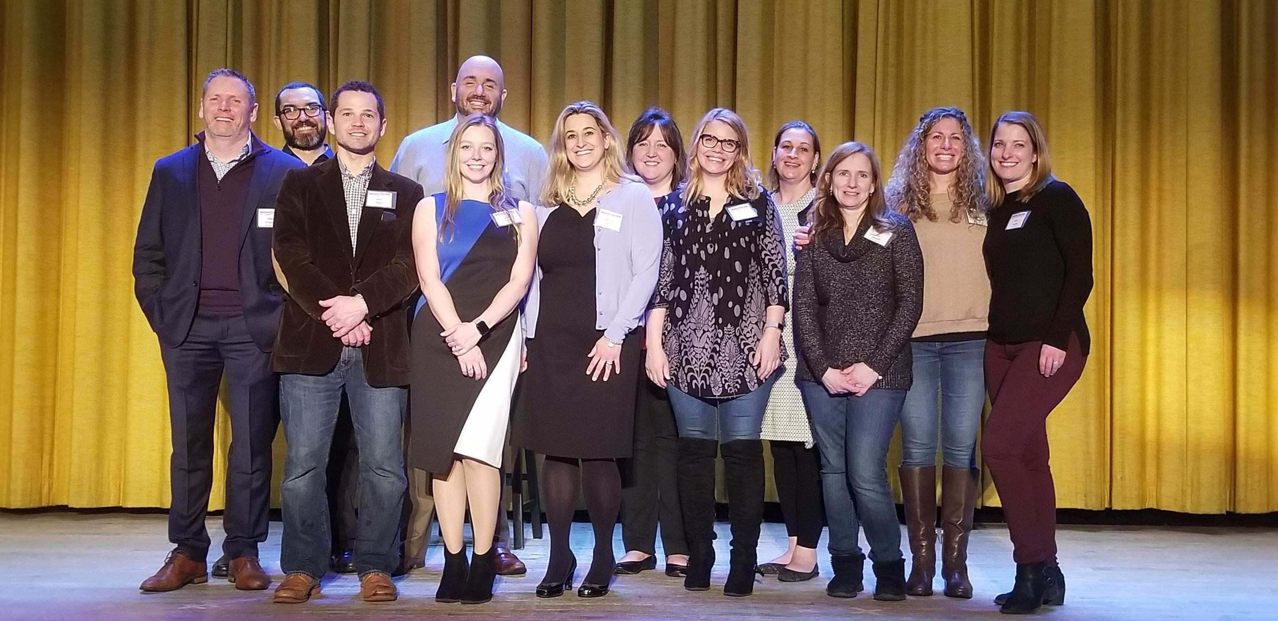 The Newtown Education Foundation Board. Photo credit to  The   Newtown Bee