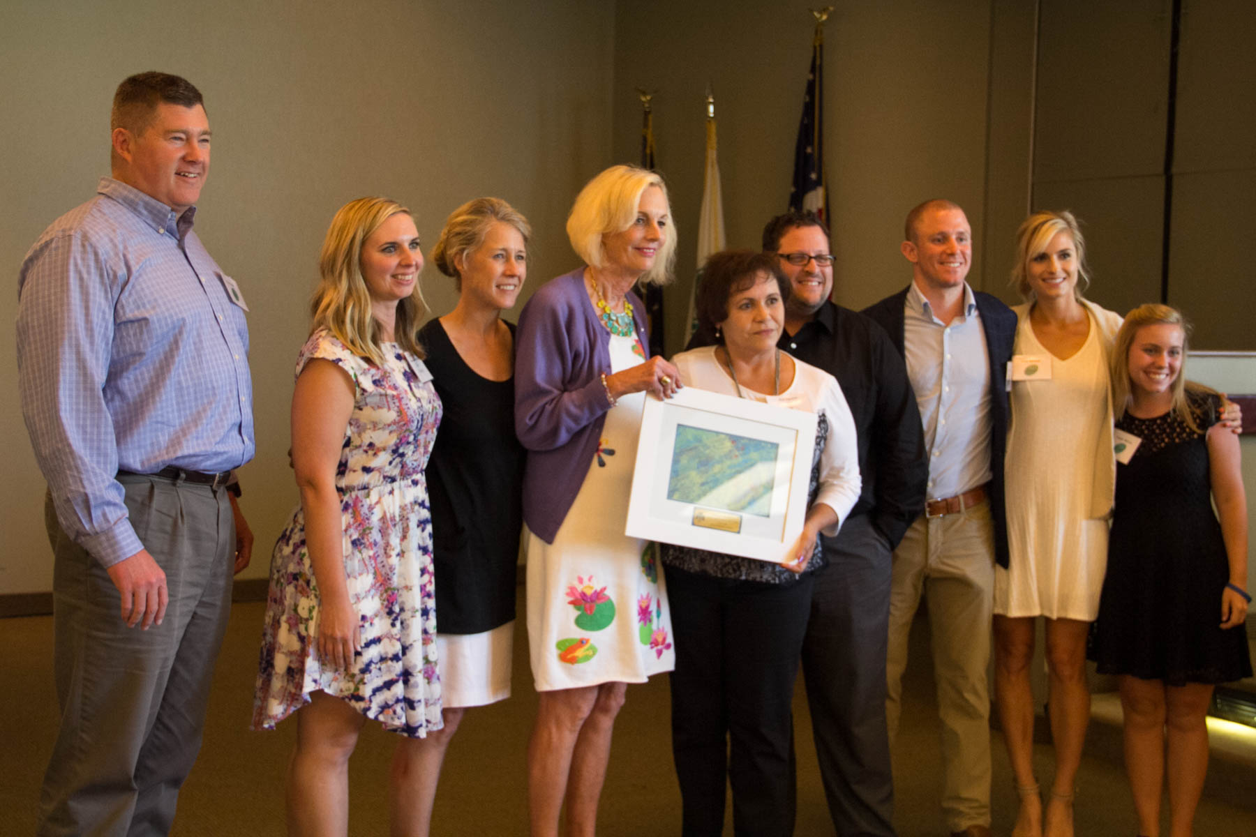 Dr. Maureen Barber-Carey gifted The Center with a beautiful client painting to commemorate our Pursuit journey