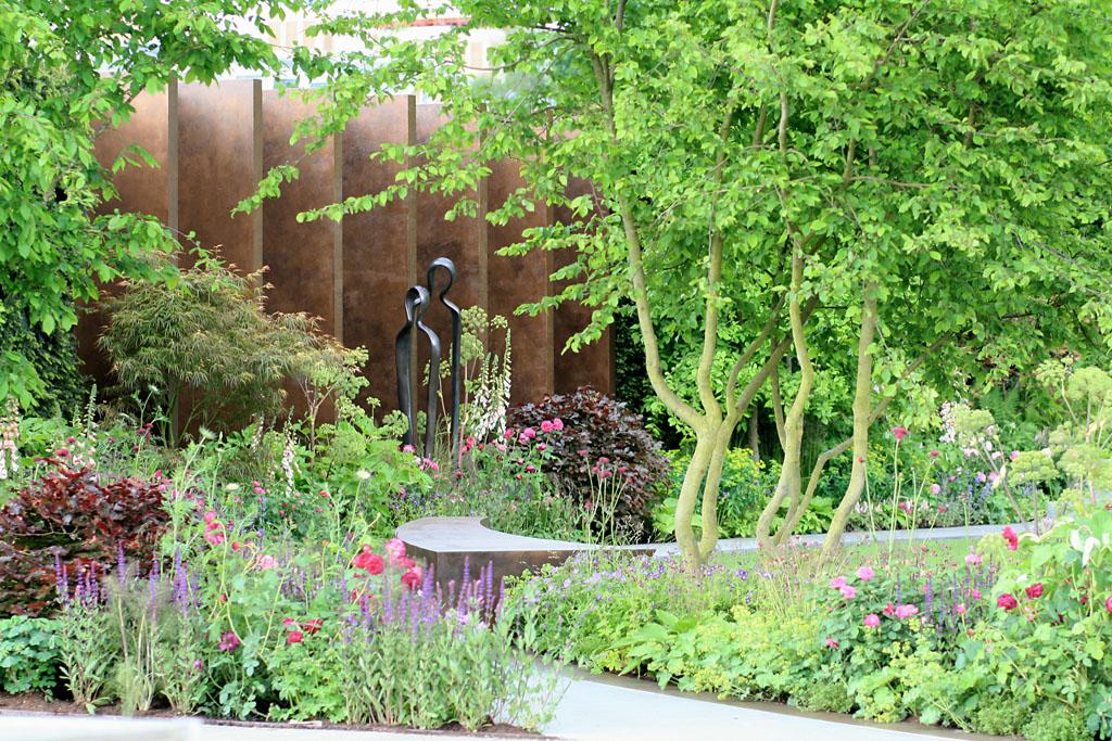 Detail from Jo Thompson's  Chelsea Barracks Garden  for Qatari Diar, RHS Chelsea Flower Show 2016