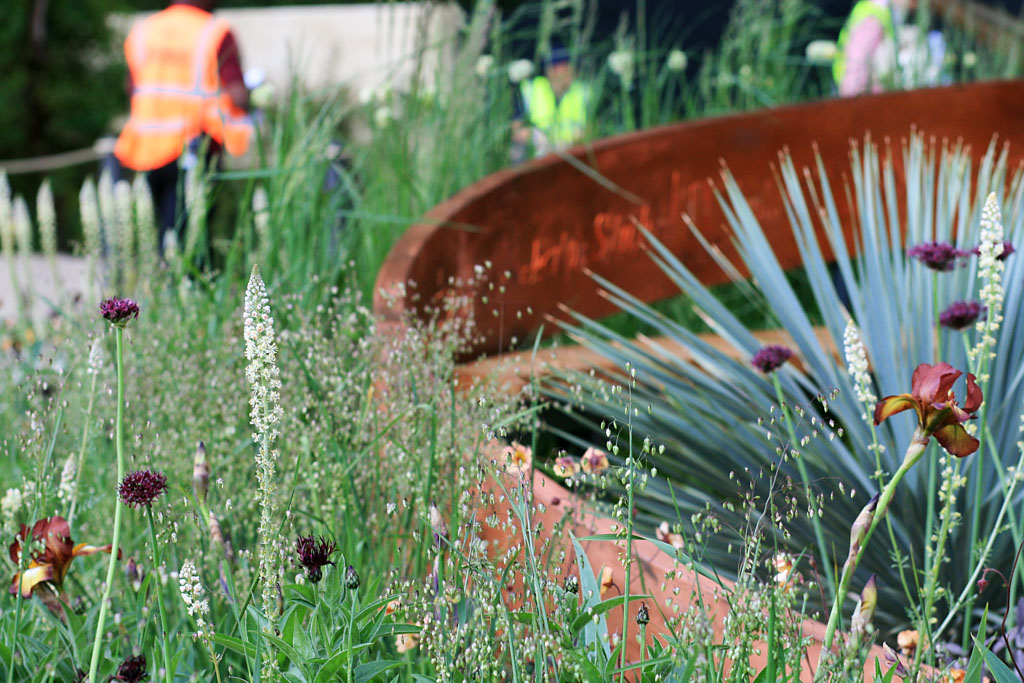 Detail from Nick Bailey's  Winton Beauty of Mathematics Garden , RHS Chelsea Flower Show 2016