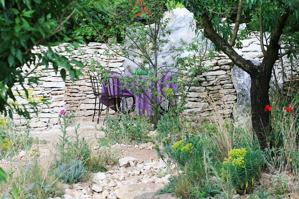 Detail from James Basson's  L'Occitane   Garden , RHS Chelsea Flower Show 2016