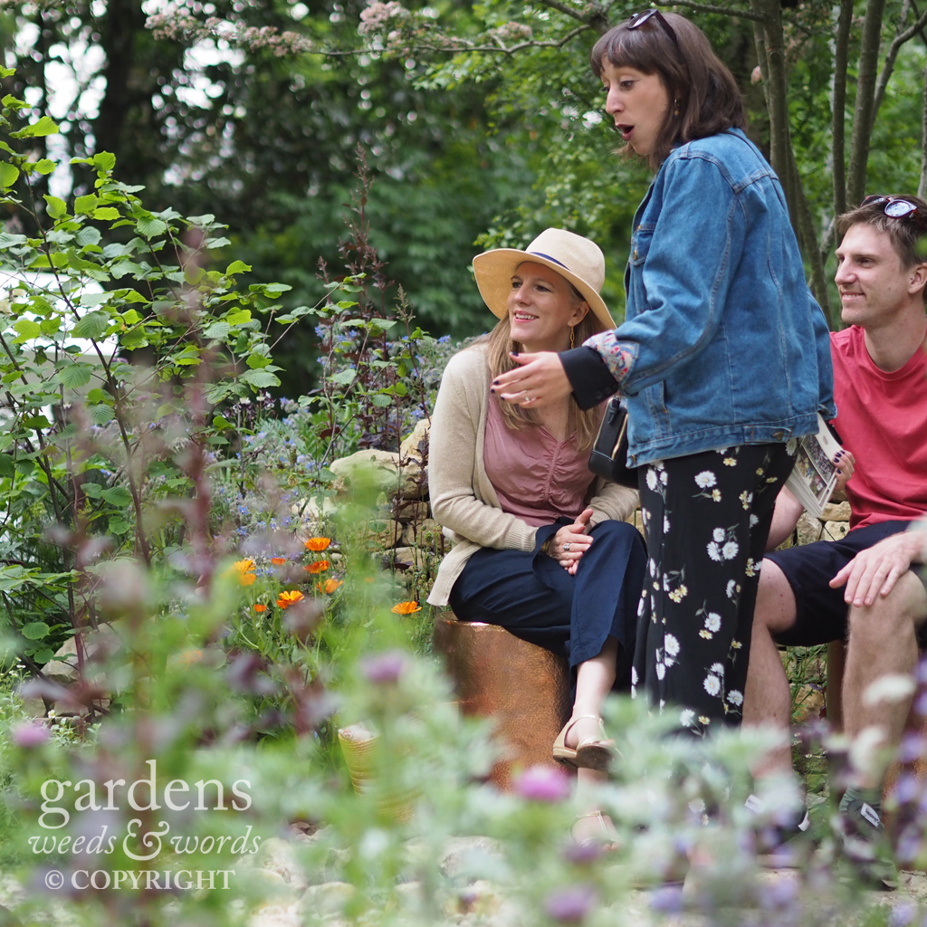 Detail from the  Warner Edwards garden by Tamara Bridge and Kate Savill , RHS Chelsea Flower Show 2018