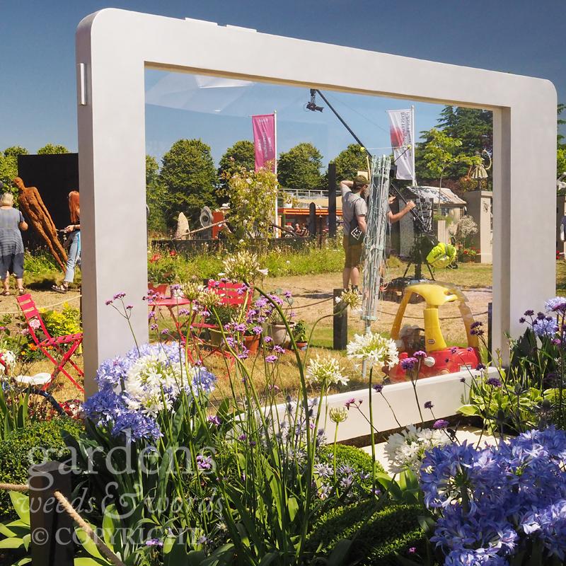 Detail from  Pollyanna Wilkinson's A Very Modern Problem  garden at the RHS Hampton Court Flower Show 2018
