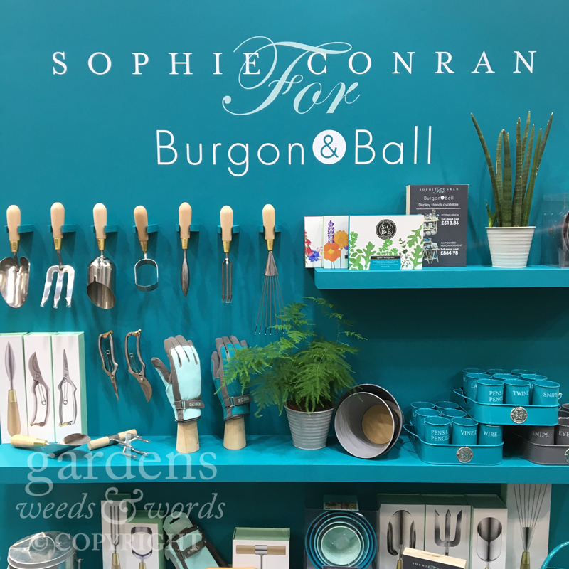 Beautifully designed garden tools from the  Sophie Conran range at Burgon & Ball