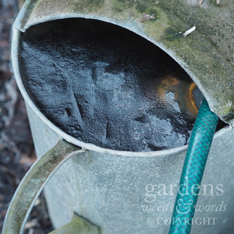 Note to self: not the best way to treat your hose attachments in winter – they don't like the frost.