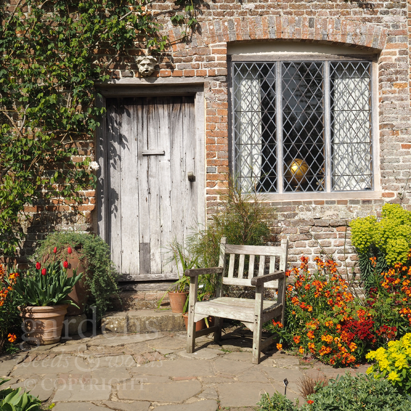 A favourite spot for Harold Nicolson by the door at South Cottage, Sissinghurst