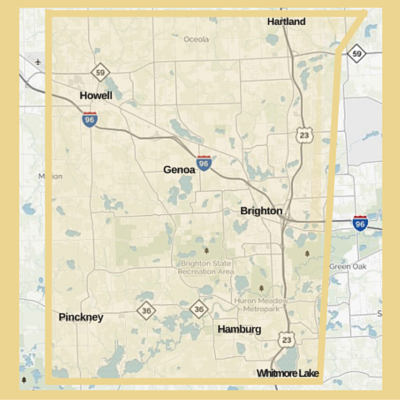 Livingston County - The Livingston Edition is distributed weekly to: Pinckney, Hamburg Township, Whitmore Lake, Green Oak Township, Brighton, Genoa Township, Howell & Hartland.