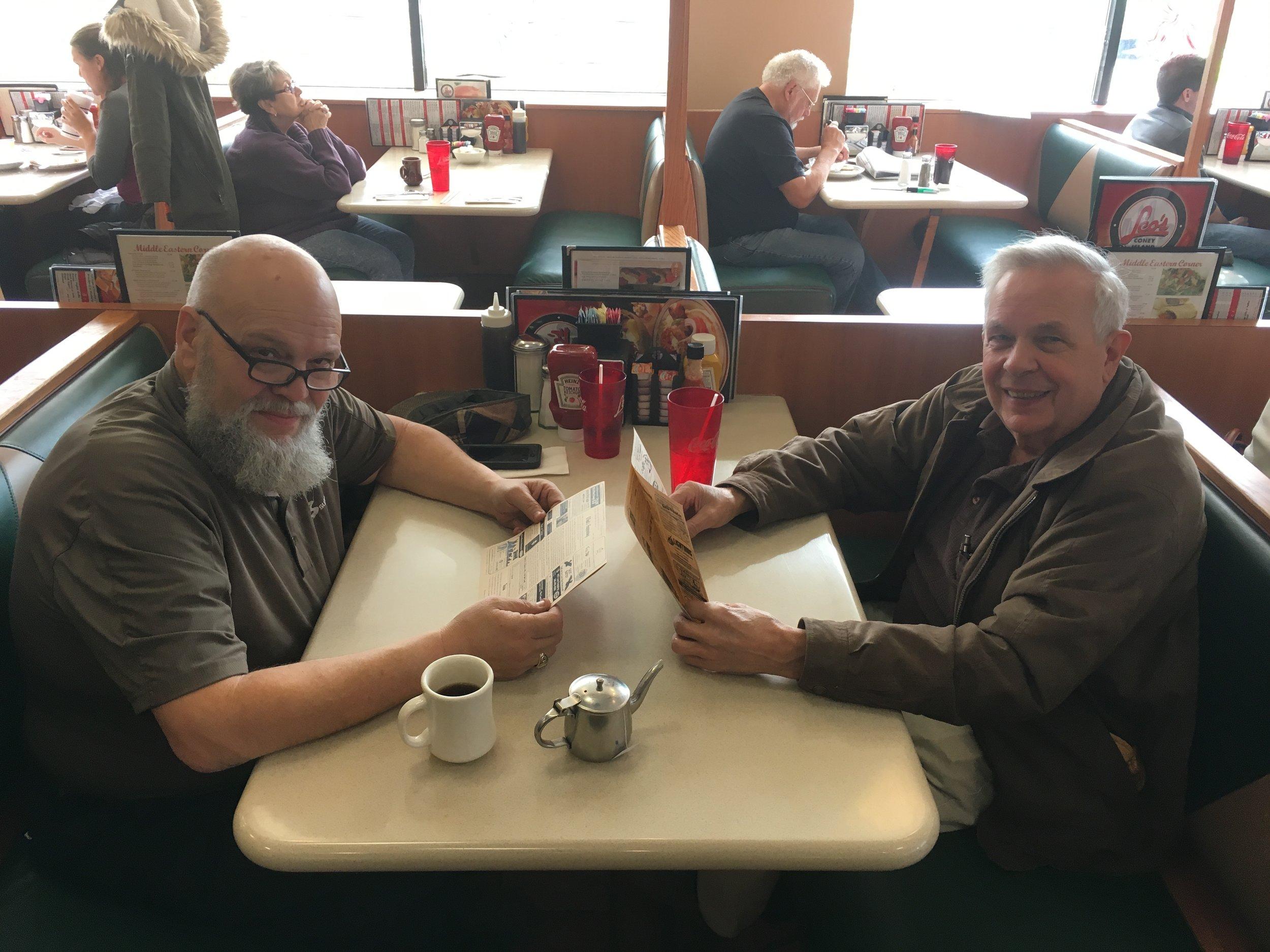 Randy & Charlie- Leo's Coney in New Hudson- November 2017.JPG