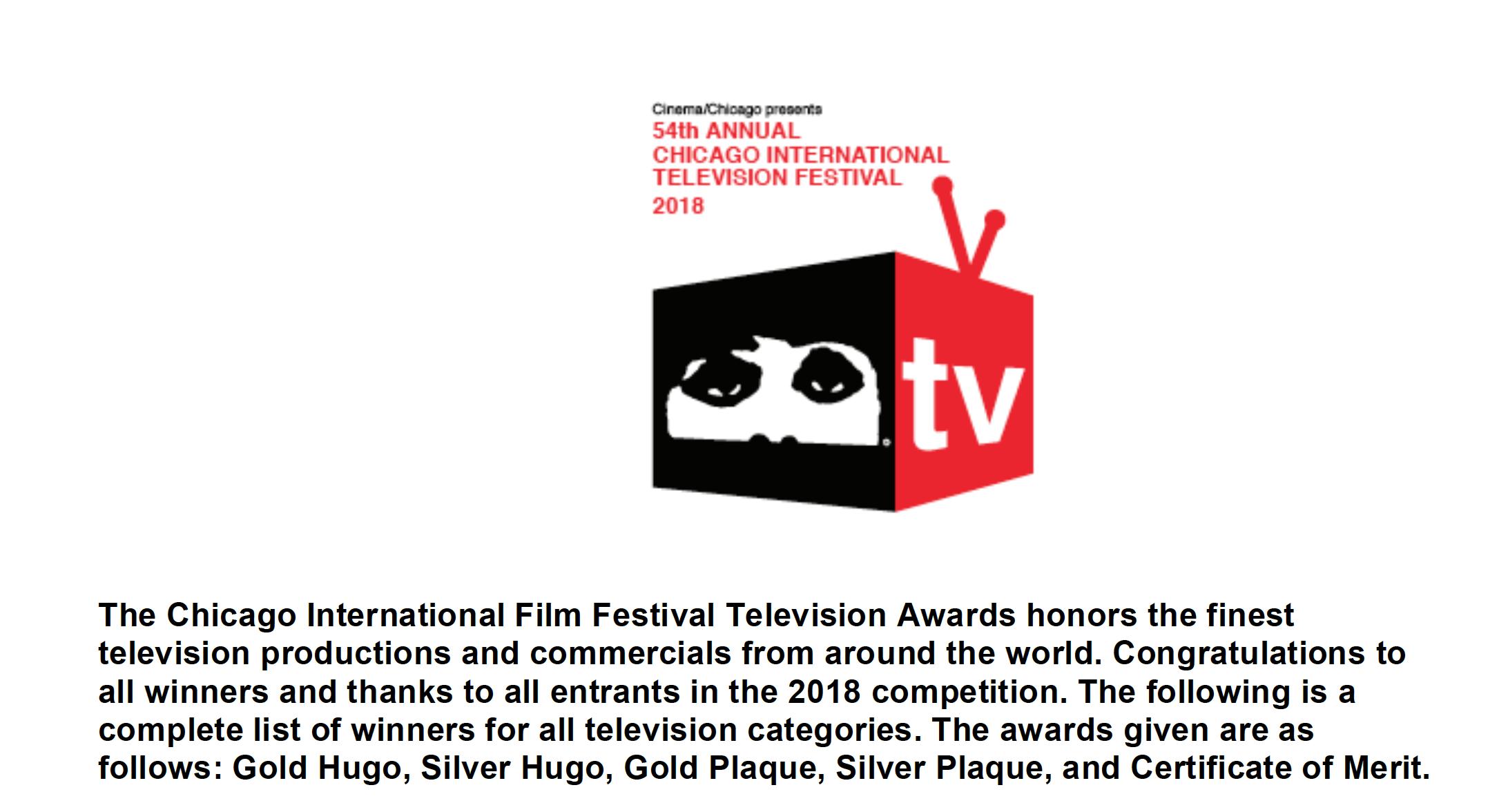 Chicago International Television Festival 2018