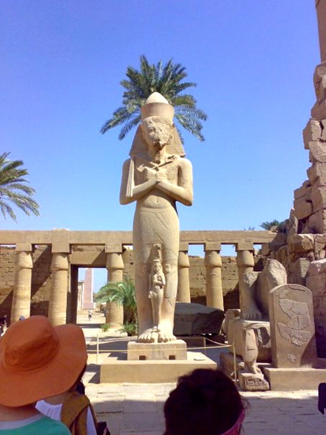 Rameses II in forecourt