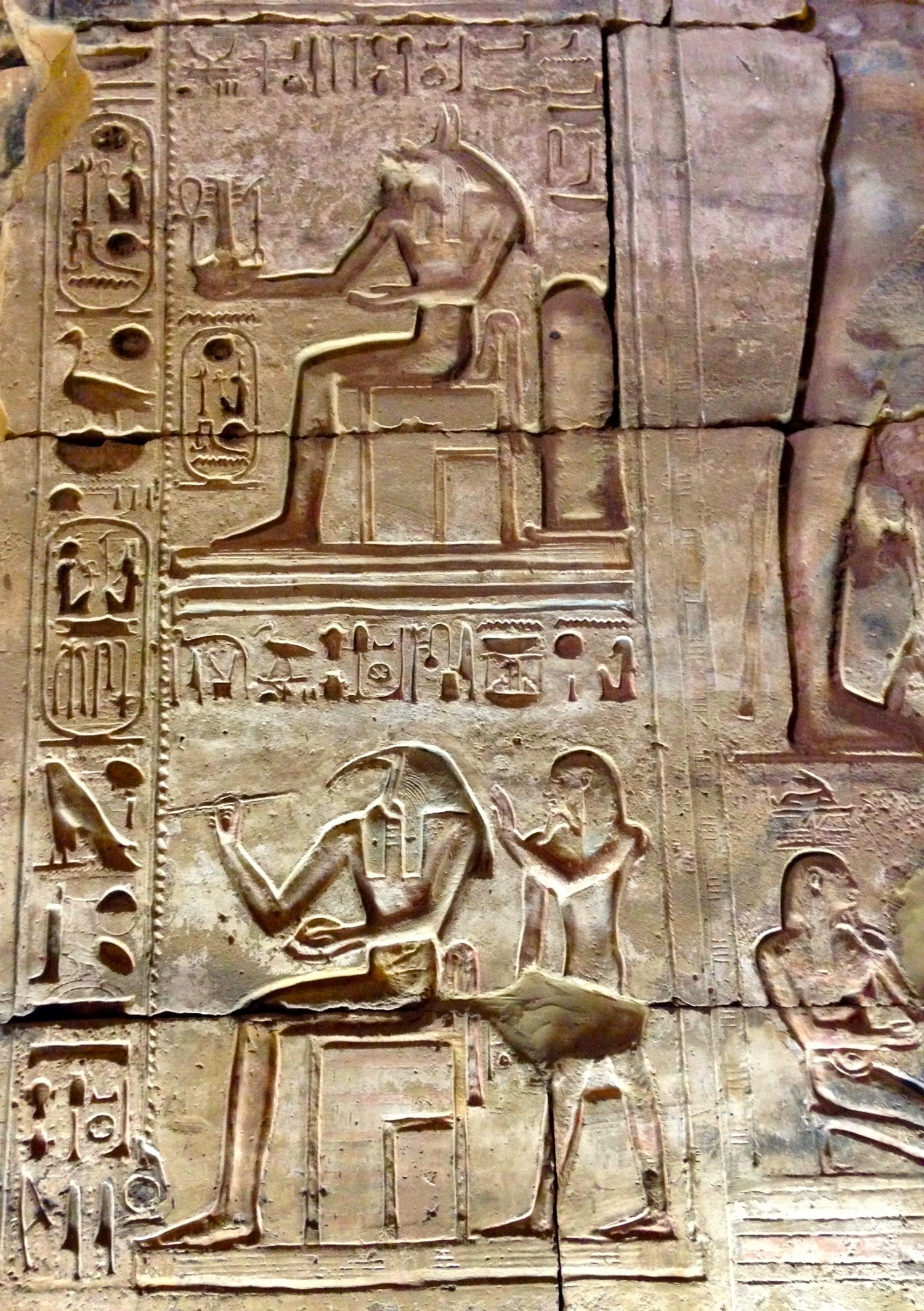 God Thoth and God Anubis at right of doorway at Temple entrance