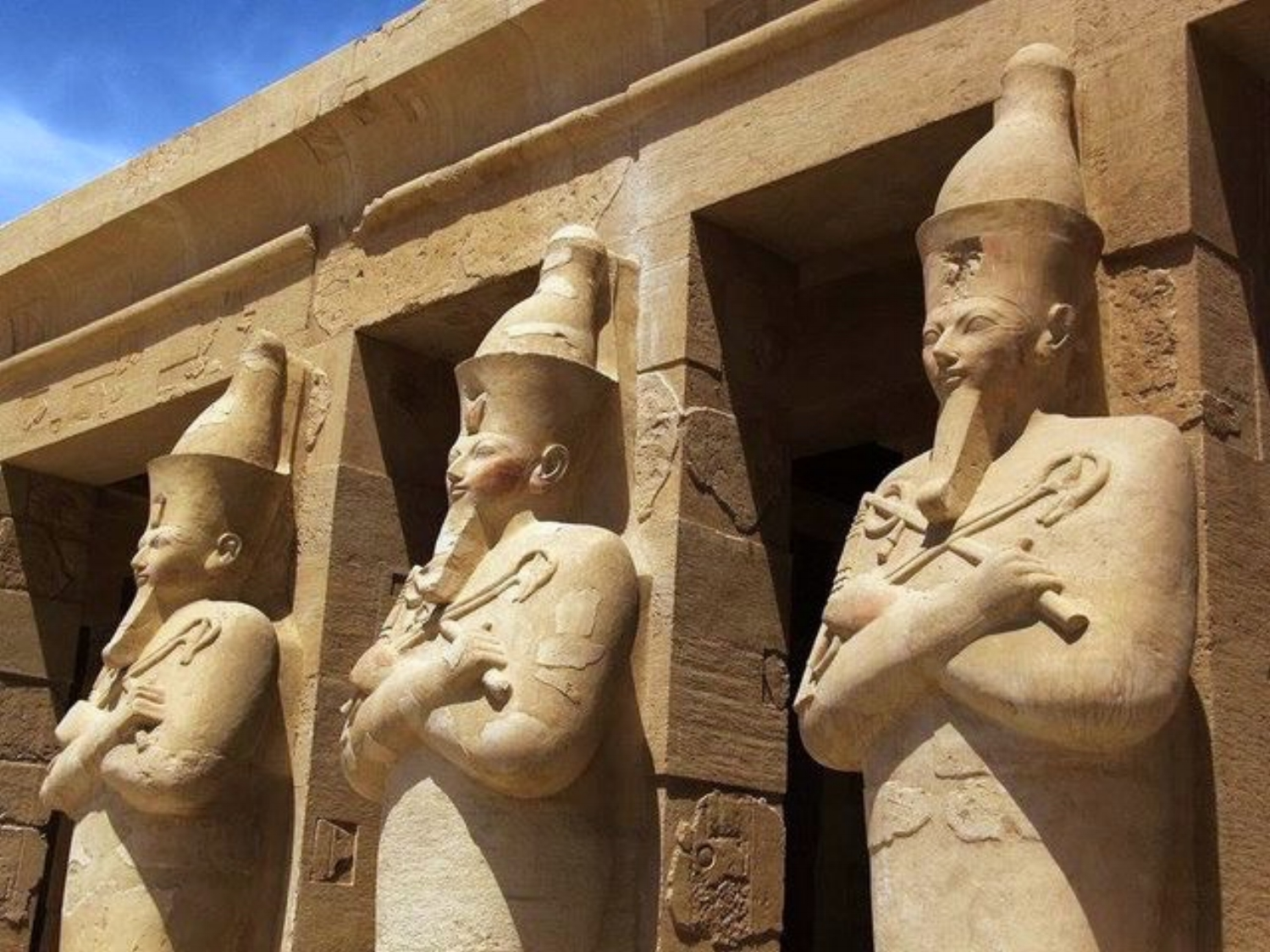 Statues of God Osiris