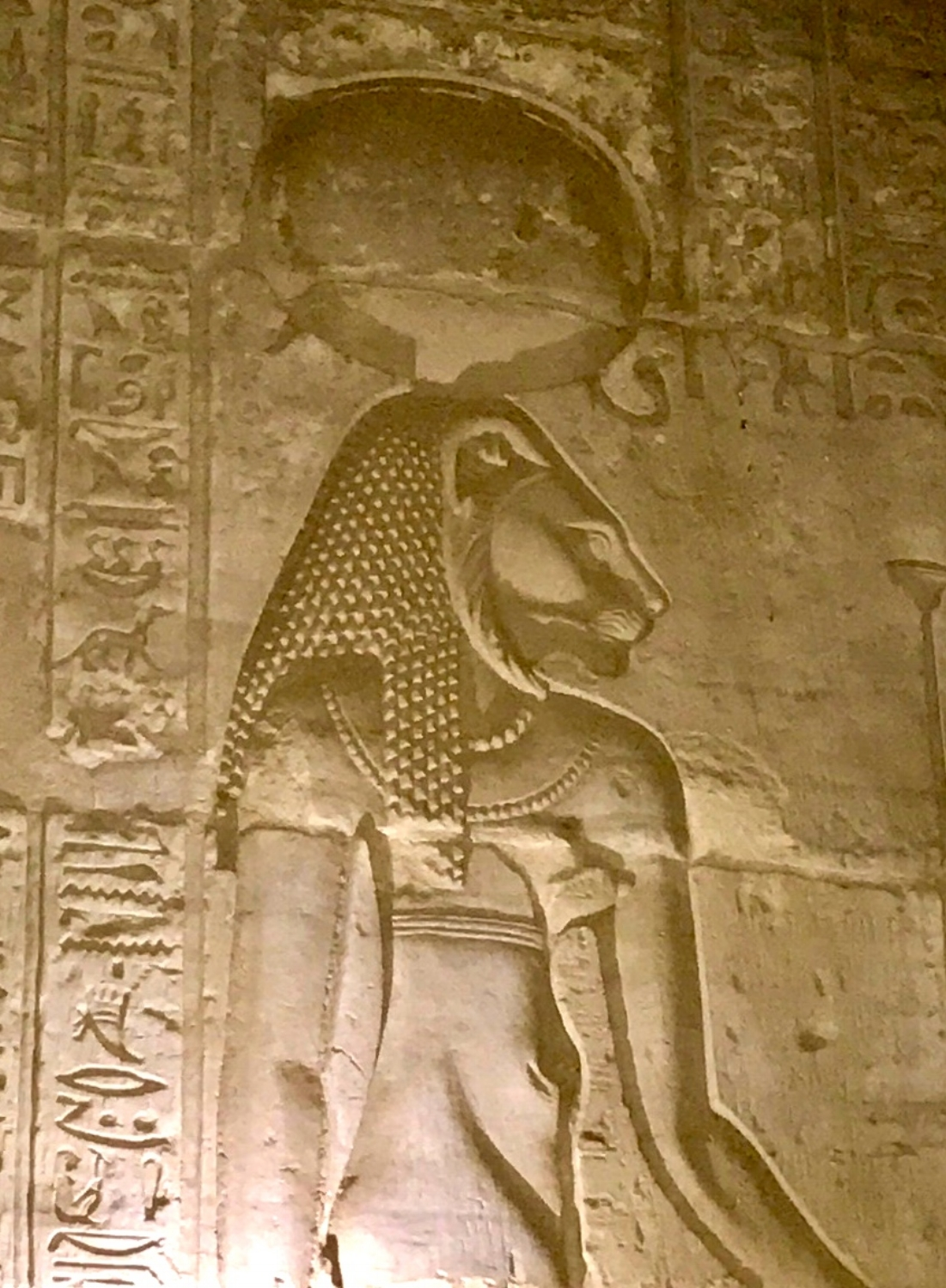 Sekhmet on the Temple walls
