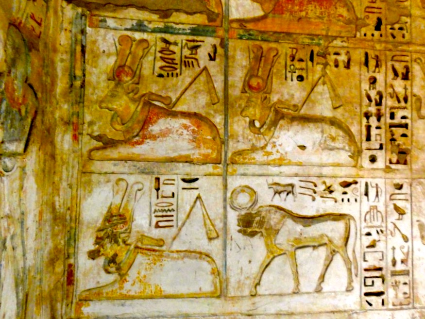 Hathor images in the Paradise Chapel