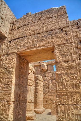 Doorway to Temple of Khonsu (son of Rameses II)