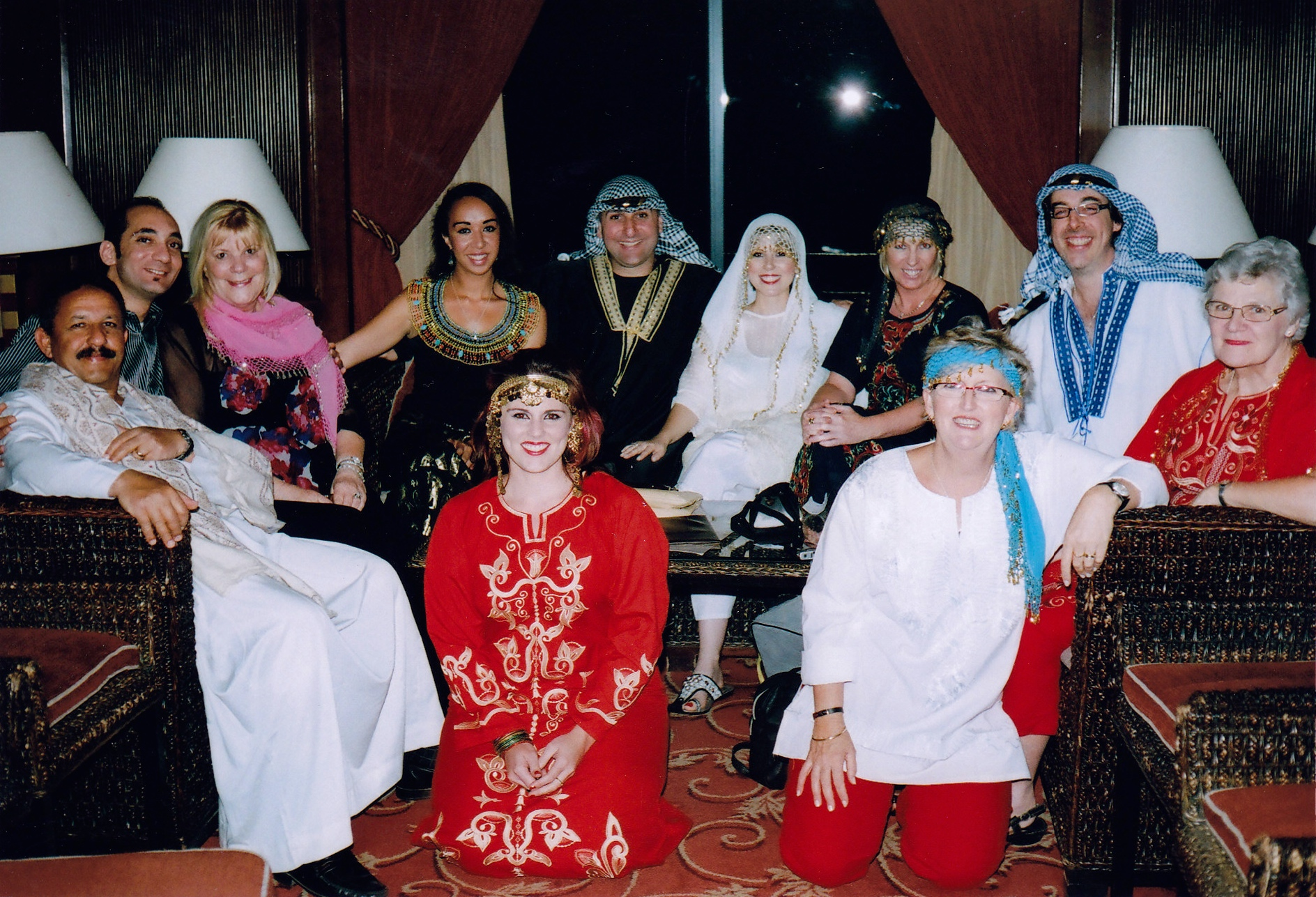 January 2010 Group enjoying Galabeya night on board Nile Cruise