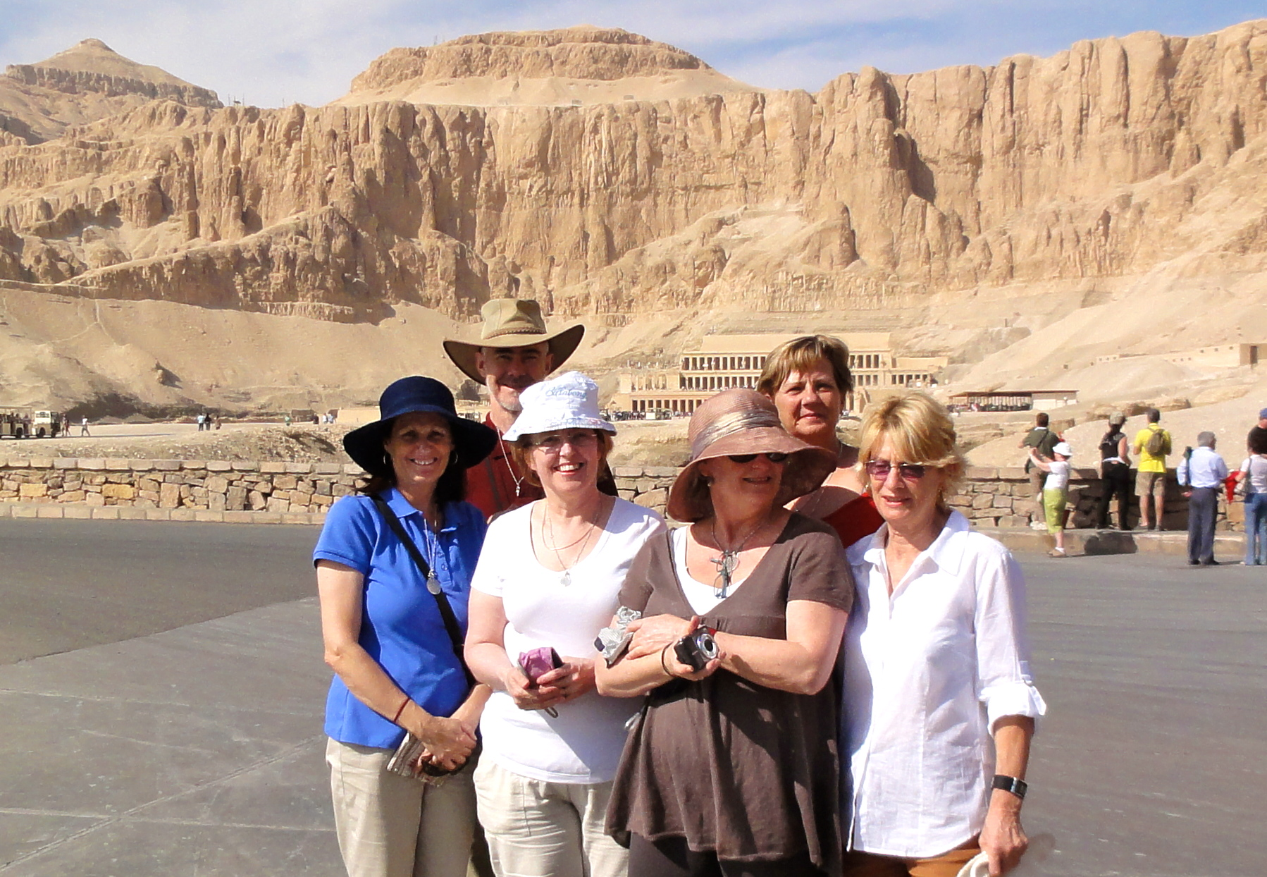 November 2010 Group at Hatshepsut Temple, west bank Luxor