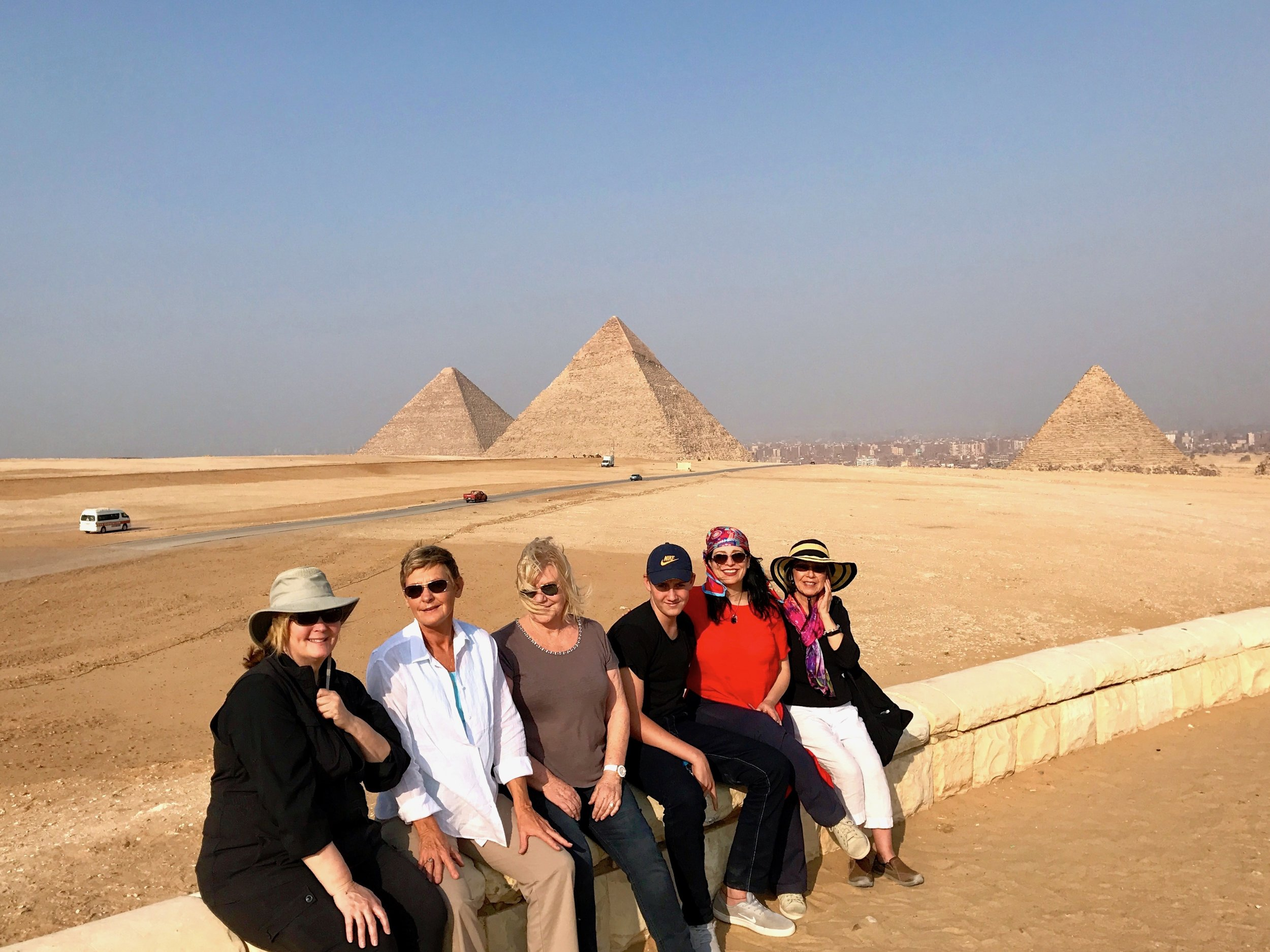 April 2017 Group at the Panorama, Giza Plateau